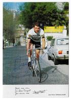 CARTE CYCLISME JEAN PIERRE DANGUILLAUME SIGNEE TEAM PEUGEOT 1972 - Cyclisme