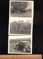 Photographie Originale X3 Automobiles CITROEN Traction En Afrique Automobile Voiture Wagen Old Car - Auto's