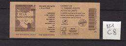 Carnet Marianne De CIAPPA Lettre Prioritaire N° 851 C8 - Carnets