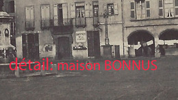 CDV Place Du Marché à MILLAU-maison BONNUS Vers 1870?-photographe Bouillier - Anciennes (Av. 1900)