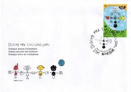 Slowenien Slovenia Slovenie 2001 Fdc Cover; Dialogue Entre Les Civilisations Year Of Dialogue; Telephone - Eslovenia