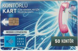 "Turkey Phone Card ""50 Kontor"" - Turchia"