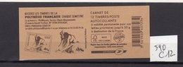Carnet Marianne De  BEAUJARD Lettre Prioritaire N° 590 C12 - Carnets