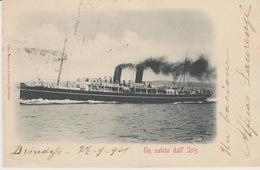 R. MARINA ITALIANA - UN SALUTO DALL'ISIS - VIAGGIATA 1901 - Guerra