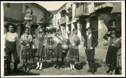 REAL PHOTO POSTCARD SIZE MOZOS MOZAS TRAJES GUADALUPE CACERES  ESPAÑA SPAIN CARTE POSTALE TARJETA - Cáceres