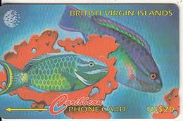 BRITISH VIRGIN ISL.(GPT) - BVI Wild Life/Parrot Fish, CN : 25CBVB(normal 0), Tirage 11400, Used - Virgin Islands