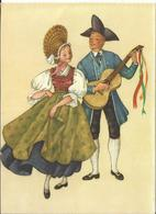 JOYEUX NOEL WEIHNACHTEN CHRISTMAS Illustrateur MARIA REHM  BONNE ANNEE COUPLE GUITARE CP AUTRICHE - Santa Claus