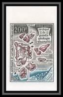 90001a Taaf Terres Australes Airmail PA N°24 Archipel Pointe Géologie Non Dentelé (imperforate) MNH ** Cote 150 Euros - Geschnitten, Drukprobe Und Abarten