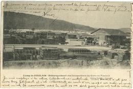 Camp De Foulain Debarquement Des Locomotives Gare De Foulain - Autres Communes