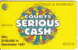 ANTIGUA & BARBUDA(GPT) - Courts Serious Cash, CN : 186CATA(normal 0), Tirage 5000, Used - Antigua And Barbuda