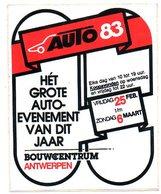 Sticker Autocollant Auto Evenement 1983 Bouwcentrum Antwerpen Anvers - Transports