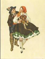 JOYEUX NOEL WEIHNACHTEN CHRISTMAS Illustrateur MARIA REHM  BONNE ANNEE COUPLE  CP AUTRICHE - Santa Claus