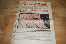 Asi Va El Mundo Revista De La Prensa Universal N°4 (1934) Barcelone, Mussolini, Masaryk, Carl N. Taylor, Rumba, Turquie - Revues & Journaux