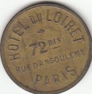 PARIS Hôtel Du Loiret ; Jeton De Compteur à Gaz (pré-paiement) - Frankrijk