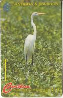 ANTIGUA & BARBUDA(GPT) - Bird, Great Egret, CN : 104CATC(0 With Barred), Tirage 30000, Used - Antigua And Barbuda