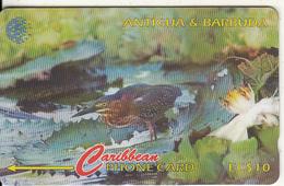 ANTIGUA & BARBUDA(GPT) - Bird, Green Backed Heron, CN : 104CATB(Lts, 0 With Barred), Tirage %30000, Used - Antigua And Barbuda