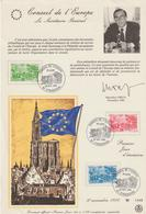 """Service                """" STRASBOURG Conseil De L' EUROPE 1er Jour D'émission """"          Cachet Temporaire 10/11/1984 - Lettres & Documents"""