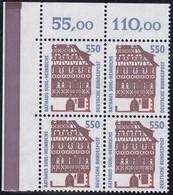 BRD, Sehenswürdigkeiten (XVII), 1994, Mi.Nr. 1746 ** Ein Eckrand-Viererblock Oben Links - Nuovi