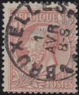 Belgie     .    OBP    .     52    .      O      .         Gebruikt   .   /    Oblitéré - 1883 Leopold II