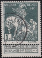 Belgie     .    OBP    .     88    .      O      .         Gebruikt   .   /    Oblitéré - 1910-1911 Caritas