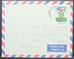 Rwanda - Cover To Belgium 1971 Flag 18F Solo - Ruanda