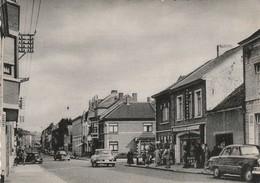 Jodoigne , Chaussée De Charleroi , ( Café Brasserie Pub Bière BERGENBIER ; Auto Traction , Peugeot 203 ? Opel ,RARE - Jodoigne