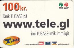 GREENLAND - Www.tele.gl, USASS/Tele Post Prepaid Card 100 Kr., Exp.date 16/04/11, Used - Groenlandia