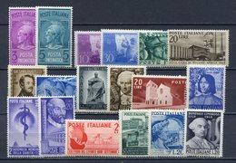 ITALIA  REPUBBLICA  1947-1949 COMMEMORATIVI == MNH** - 1946-.. République