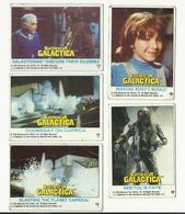 BATTLESTAR GALACTICA - TRADING CARDS – 1978 - LOT OF FIVE - Battlestar Galactica