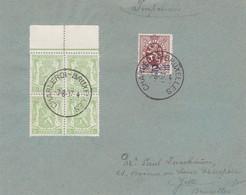 Document 315 418A Bloc De 4 Ambulant Charleroi Bruxelles - Lettres & Documents