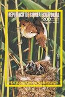 Guinea Equatoriale 1976 Bf. 241B Birds Passeri Los Carriceros CANNAIOLA Sheet Imperf. CTO - Passeri