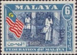 USED STAMPS Malaya,-Federation - Coat Of Arms, Flag And Map Of Malaya   -1957 - Fédération De Malaya