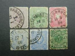 <1900 Lot With Interesting Cancellations - Deutschland
