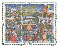 Bloc 73 Specimen Presse Noël Et Nouvel An Panorama D'un Marché De Noël - Blocs 1962-....