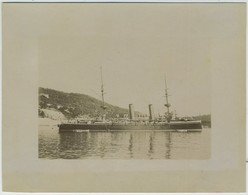 Le Croiseur Anglais Vénuse. Bateau De Guerre. Militaria. 1899. Secteur De Villefranche-sur-mer. - Antiche (ante 1900)