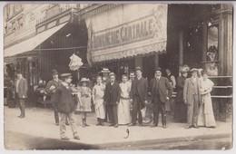CARTE PHOTO PARIS 17ème ?  : POISSONNERIE - POISSONS & CRUSTACES - MAISON CORBONNOIS PARIS 17éme ?- BOUCHERIE CENTRALE - - Postcards