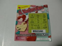 Loterie Lottery Loteria Lotaria Instant Instantânea Raspadinha Jogo Nº 406 S. Valentim Portugal - Loterijbiljetten
