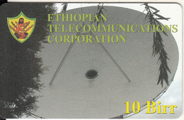 ETHIOPIA(chip) - Satellite Dish, Telecom Logo, ETC Telecard 10 Birr, Exp.date 31/12/07, Mint - Ethiopië