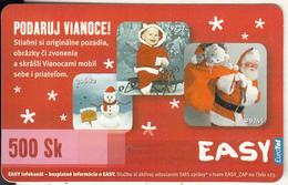 SLOVAKIA - Christmas, Eurotel Prepaid Card 500Sk, Used - Christmas