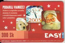 SLOVAKIA - Happy New Year 2005, Eurotel Prepaid Card 300Sk, Used - Natale