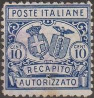 Italia 1928 Recapito Autorizzato 10 Cent. D.11 (o) Vedere Scansione - 9. WW II Occupation (Italian)