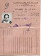 Rugby, Federation Française, Licence De Joueur, Montpellier Université Club, 1947    (bon Etat) - Rugby