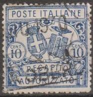 Italia 1928 Recapito Autorizzato 10 Cent. D.14 (o) Vedere Scansione - 9. WW II Occupation (Italian)