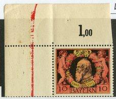 W-13763  Mi.# 93B** Corner 1911 - Bayern