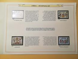 PAGINA PAGE ALBUM GRAN BRETAGNA GREAT BRITAIN 1981 FOLKLORE DESCRIZIONE PAGES WITH DESCRIPTION - Collezioni