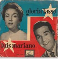 6 Discos Vinilo. 45 T. Gloria Lasso. Luis Mariano Tito Guizar. Luces De Feria. Banda Ibérica. David Carroll. Patricia. - Vinyl-Schallplatten