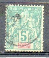 Colonies Françaises - GRANDE COMORE - 1897 - N° 4 - 5 C. Vert - Gebraucht