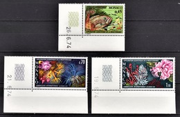 MONACO 1974 - SERIE N° 981 A 983 - 3 TP NEUFS** - Unused Stamps