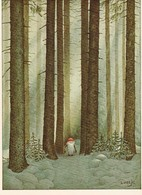 Brownie - Gnome - Elf In Snowy Forest - Woods - Lennart Helje - Pictura Graphica AB - Kerstmis
