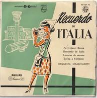6 Discos Vinilo. 45 T. Recuerdo Italia. Esquivel. Rudy Risavy. The Platters. Luna Azul. O.M.D.  Condición Media. - Dischi In Vinile